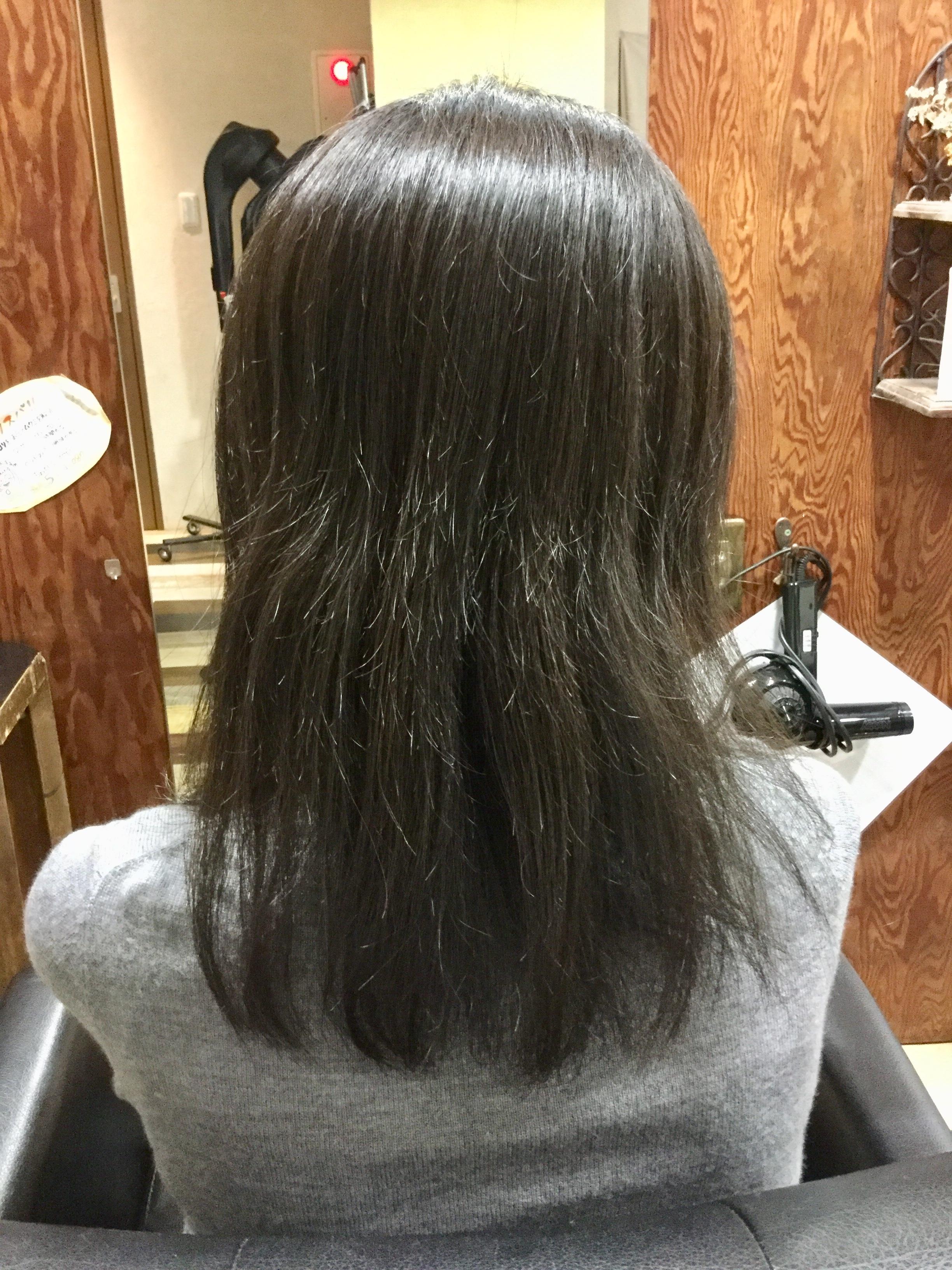 方 髪の毛 すき